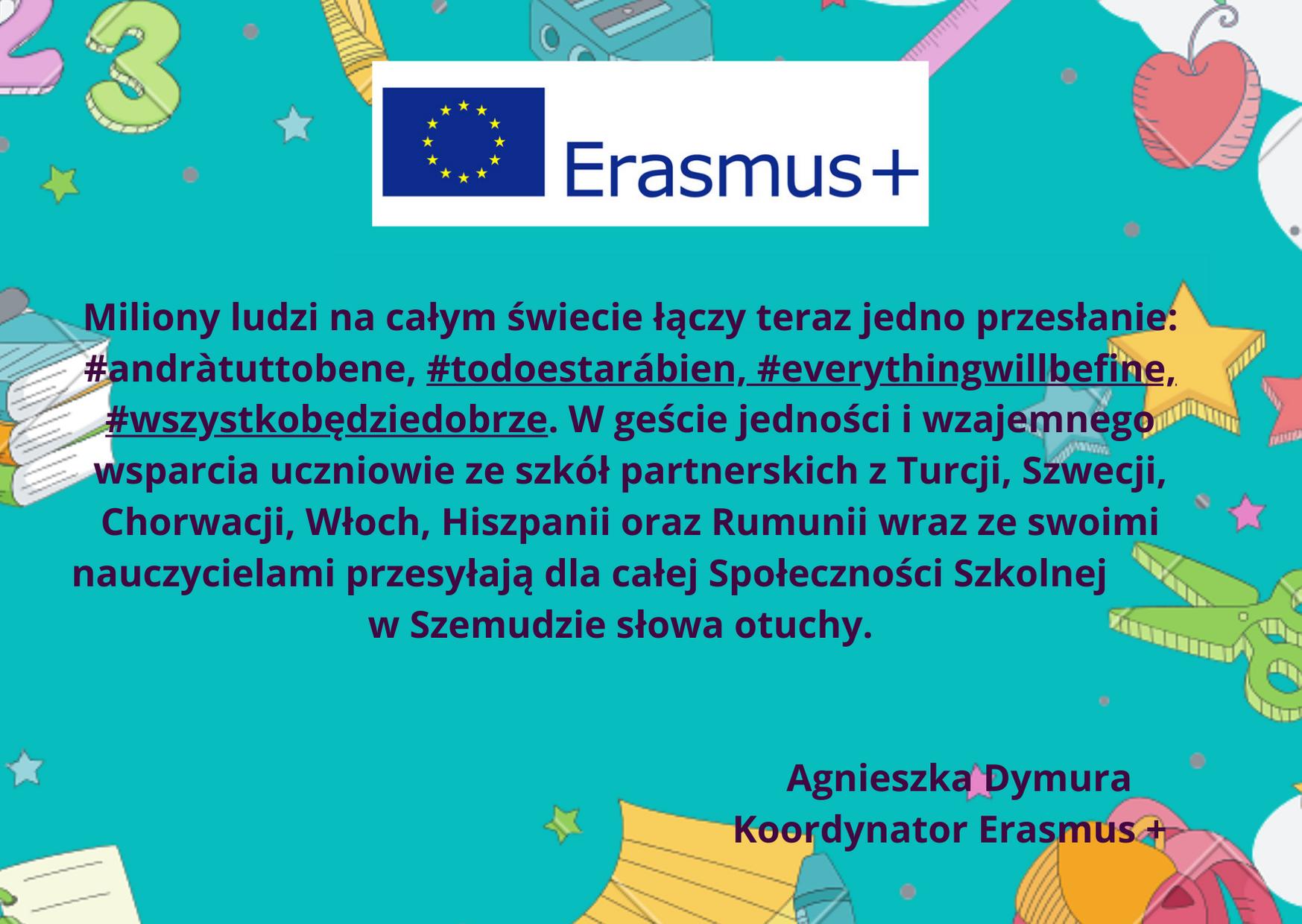 Ku pokrzepieniu serc - Erasmus+