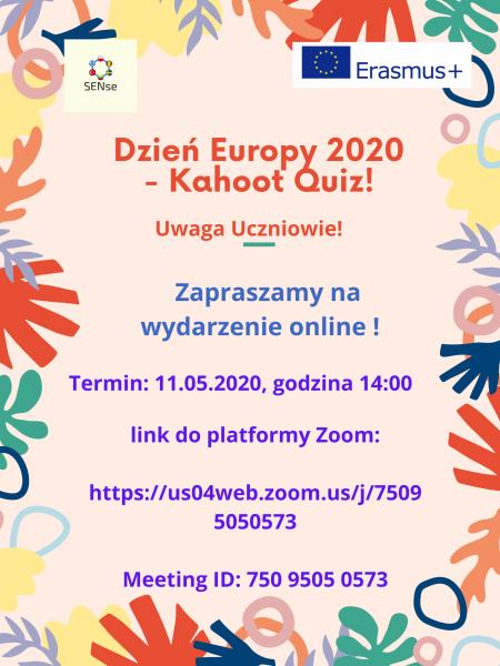 Dzień Europy rozgrywki Kahoot