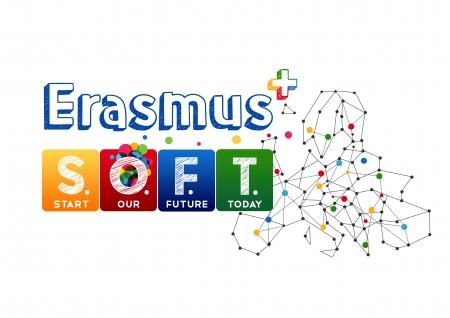 Informacja dotycząca logo projektu Erasmus+ S.O.F.T. Start Our Future Today